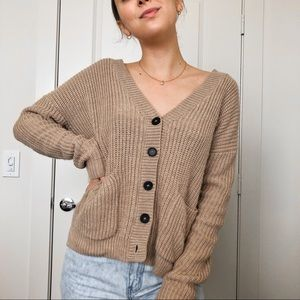 Chunky Knit Button Down Cardigan